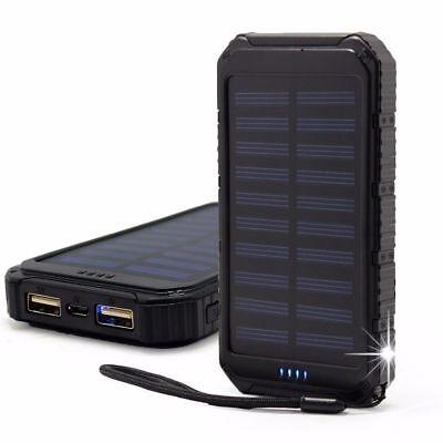 Responsabile Impermeabile 300000 Mah Solar Power Bank 2usb Battery Portable Charger Samsung Regno Unito-
