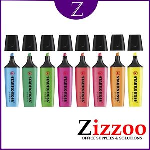 STABILO-BOSS-ORIGINAL-HIGHLIGHTERS-IN-PACKS-OF-4-OR-8-GREAT-COLOURS-AND-FREE-P-amp-P