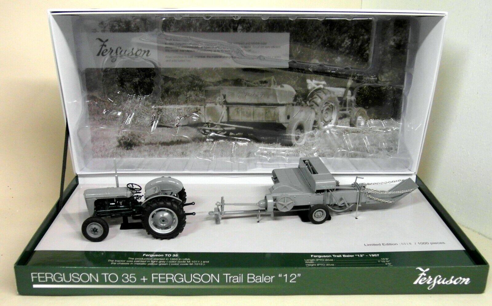 UH 1 32 scale Ferguson à 35 + Ferguson Trail botteleuse  12  Diecast Modèle tracteur