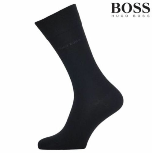 Navy color Dress//Casual US Size7-9 New 4 Pairs HUGO BOSS Men/'s socks grey