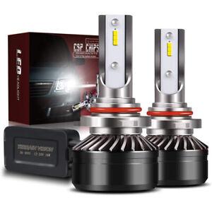 DOT LED Headlight Kit 2 Bulbs 9005 HB3 6000K Hi Beam for 2015-2019 Dodge Charger