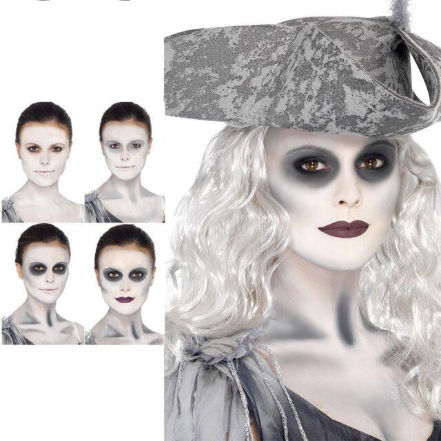 Ghost Ship Make Up Kit Zombie Pirate Face Paint Halloween Fancy Dress Facepaint
