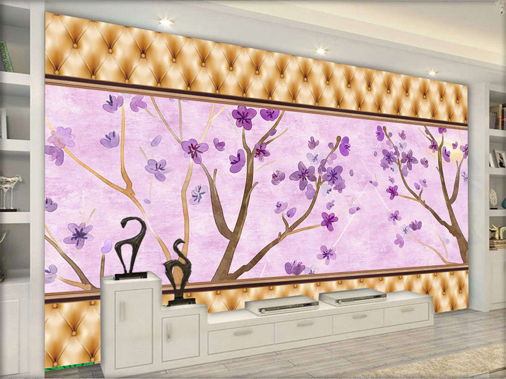 Novel Pink Flowers 3D Full Wall Mural Photo Wallpaper Printing Home Kids Decor