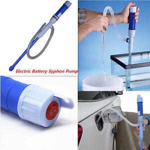 Car Diesel Fuel Siphon Pump Hose Gas Oil Liquid Syphon Transfer