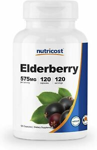 Elderberry-575mg-10-1-Extract-120-Caps-Source-of-Vitamin-C-amp-Zinc-Immune-Health