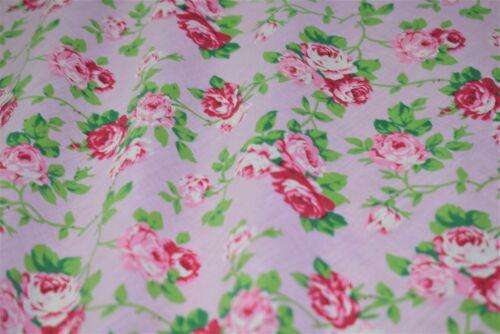 Telas de Poli Algodón Impreso Diseño Impreso De colección Rose 112 cm de ancho 4 Colores