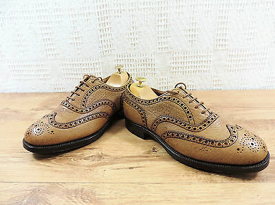 Church's Custom Grade Brogues Light Tan Beige Shoes UK 7 US 8 E 41