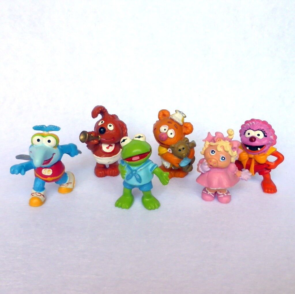 Complete set (6) MUPPET BABIES in PVC MAIA BORGES 80's made in Portugal