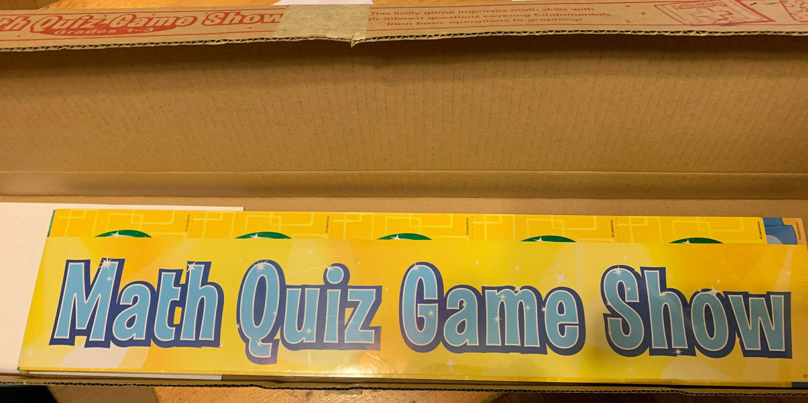 Lakeshore Math Quiz Game Show TT258 Grades 1st-3rd Brand New Never Used Sealed