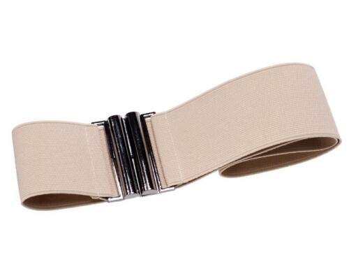 Setrino® Stretchgürtel nude beige Rockabilly Pin up Taillengürtel Retro 50er