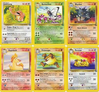 Butterfree Pokemon Jungle Uncommon cards you choose all 16! Persian Rapidash