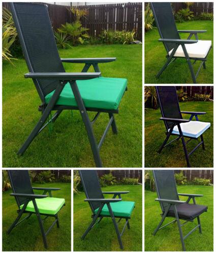 Imperméable 4x Square Chaise Siège Pad Outdoor Cravate Jardin Siège Housse amovible