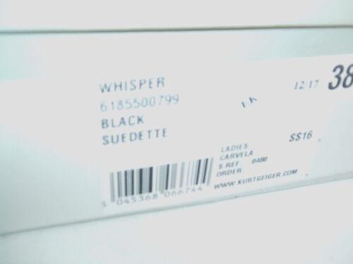 RRP £ 180 Carvela kg Whisper taille 5 ou 7 noir Fx Daim Dessus Genou Cuisse Bottes NOUVEAU