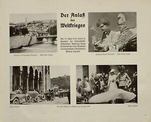 Details About 1916 Wwi Ww1 Print Capital Of Bosnia Town Hall Sarajevo Franz Ferdinand