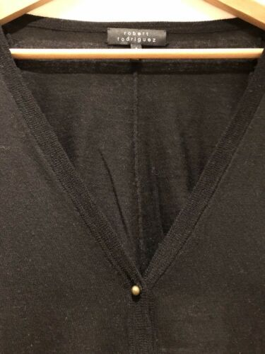 Robert maglia Rodriguez S Maglione con sul a Piccolo posteriore cardigan con retro lavorato apertura nera rxrTwfqgH
