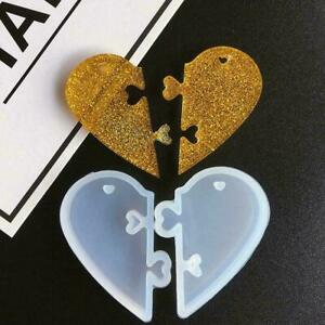 Love locks For lovers Pendant Silicone Mold DIY Epoxy Mould Resin Jewelry X3X6