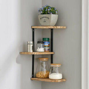 3 Layers Functional Shelf Wall Hanging Shelves for Living Room Bathroom Kitchen