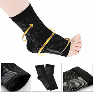 6c21b56602 Image is loading 1Pair-Foot-Angel-Anti-Fatigue-Relieve-Sock-Compression-
