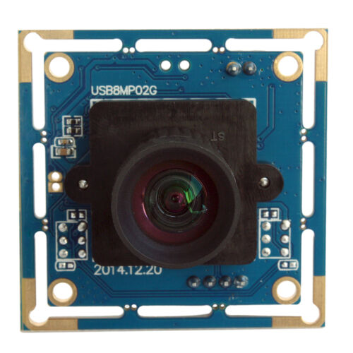 8 Megapixel IMX179 USB High Speed Camera Module with 75degree No Distortion Lens