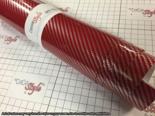 wrap Film Autocollant 3.9 in x1.52m environ 151.89 cm 59.8 in environ 9.91 cm Airfree 2D Gloss Fibre De Carbone Vinyle 0.1 M