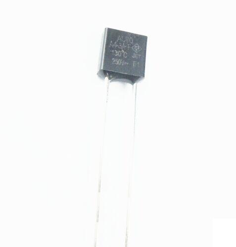 10 Pcs Aupo Thermal Fuse Cutoff TF 130℃ 250V 3A A4-3A-F NEW