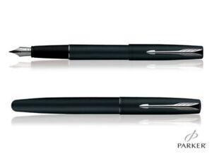Parker Frontier Matte Black Chrome trim Roller Ball Pen with gift box black ink