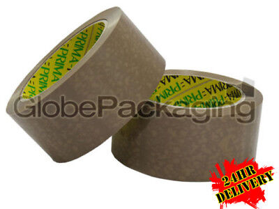 PRIMA BRANDED *24HRS* 144 Rolls HEAVY DUTY VINYL CLEAR Packing Tape 48mmx66M
