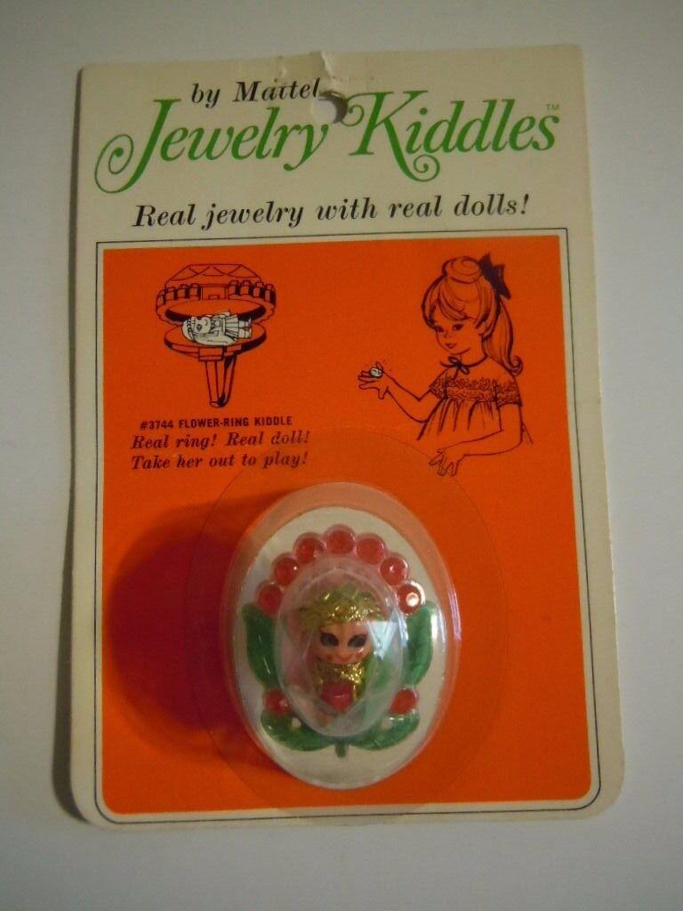 Raro 1  Miniatura Muñeca 1967 Mattel Joyería Liddle Kiddle Flor Anillo nos