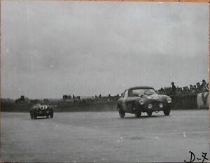52 . 24 Heures Du Mans . 1954 . Frazer Nash . 1 X Photo . Format : 12 X 9 Cm .