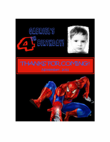 10 Spiderman invitation or thanks card birthday favors