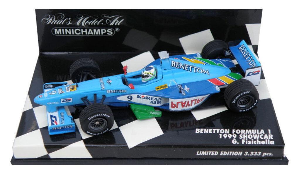 Minichamps BENETTON F1 Showcar 1999-Giancarlo Ferrari escala 1 43