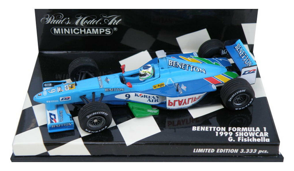 Minichamps BENETTON f1 Showcar 1999-Giancarlo Fisichella 1/43 SCALA