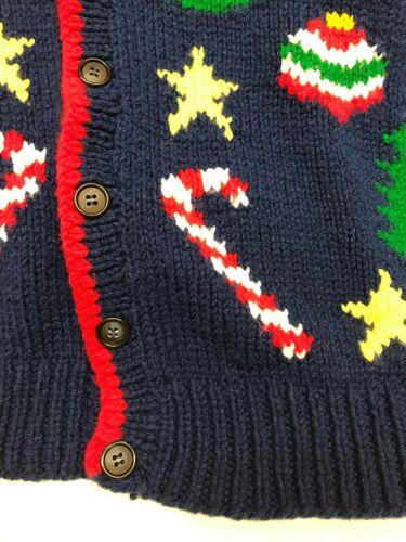 cardigan vacances pull fait main femmes xl Vintage moche Noël gTfqf