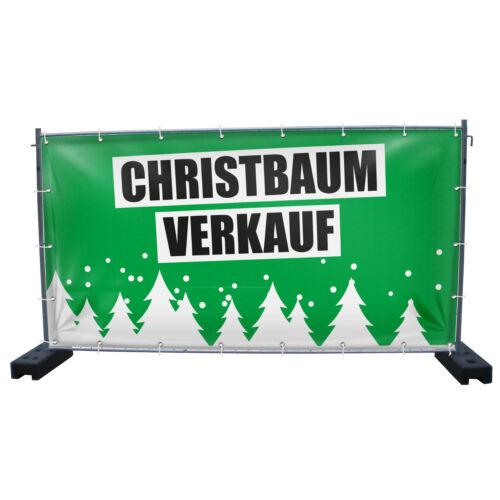 Christbaum Weihnachstbaum Banner Tannenbaum Baum Verkauf Bauzaunbanner Plane