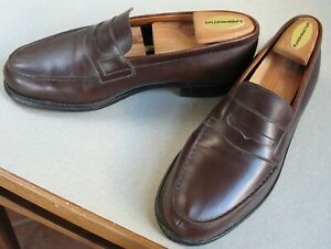 Iconic J.M. Weston 180 Classic Brown Penny Loafer Size 8 ...