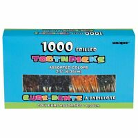 Frilly Cocktail Toothpicks, Assorted 1000ct, New, Free Shipping