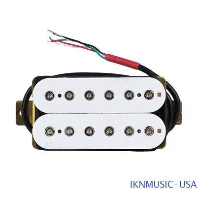1PC Alnico 5 HH Electric Guitar Humbucker Bridge Pickup White Color