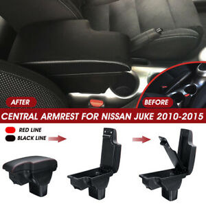 Central-Armrest-Console-Storage-Box-Cup-Handrails-W-USB-For-Nissan-Juke-10-15
