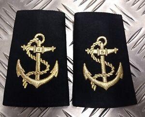 Genuine-British-Royal-Navy-LEADING-RATE-ANCHOR-Rank-Slides-Epaulettes-NEW