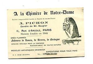 Image Is Loading Vintage Business Card A La Chimere De Notre