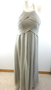 BEAUTIFUL-WOMENS-CELERY-CHIFFON-FORMAL-GOWN-DRESS-SIZE-M