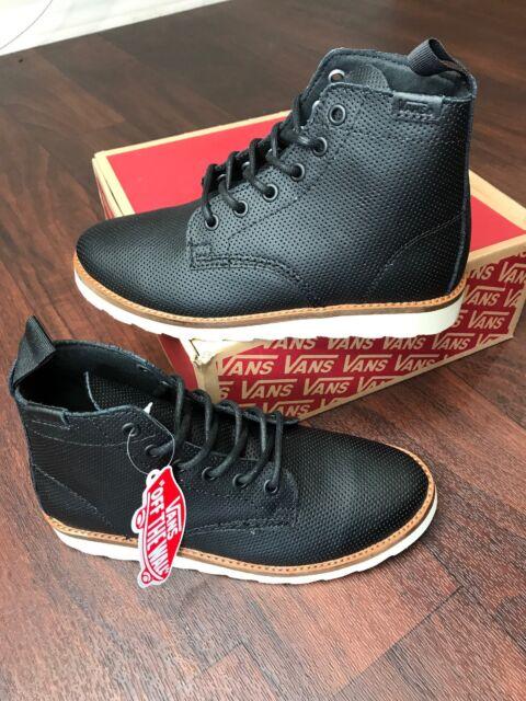 ecd55af6ec8 Details about Vans Women's Atwood Low Black Leather Lace Skate Shoes - Size  6 Med Rare NWB FS
