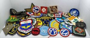 NICE LOT OF 50 LAW ENFORCEMENT Military BSA PATCHES and pins Vintage New used 2A