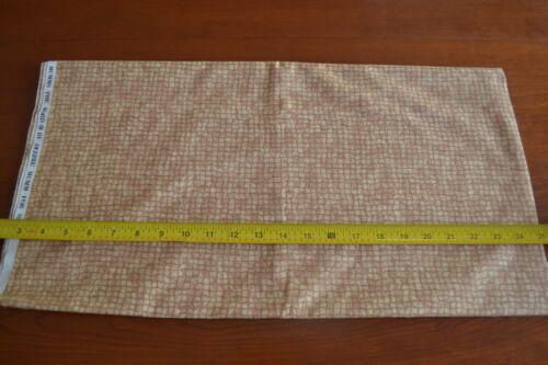 Brown on Tan Quilting Cotton N1391 By 1//2 Yd SSI//Debbie Mumm