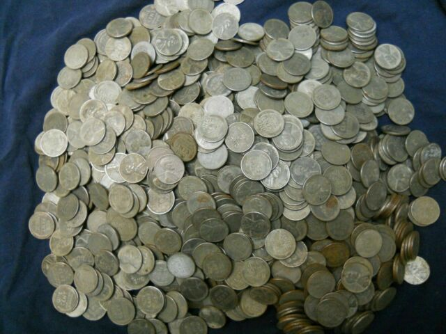 1 roll P, 1 roll D, 1 roll S 1943-PDS 3 LINCOLN STEEL WHEAT CENT PENNY ROLLS,
