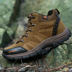 Men-039-s-Women-039-s-Waterproof-Lightweight-Leather-Outdoor-Tactical-Hiking-Boots-Shoes