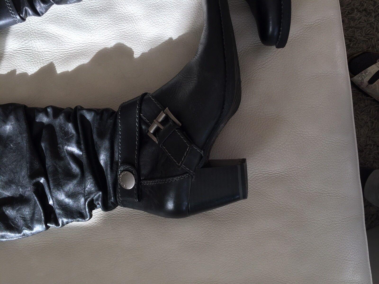 Tamaris Damen Stiefel, Stiefel, Stiefel,  Leder, Schwarz, Gr 36, Neuwertig , Absatz, 6b88b2