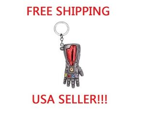 Marvel-Avengers-Endgame-IRON-MAN-Infinity-Gauntlet-RED-GRAY-Keychain-Key-chain