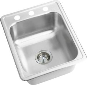 Image Is Loading Elkay Drop In Kitchen Bar Sink Stainless Steel
