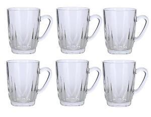 Alpine cuisine set of 6 glass tea cups 8 ounces each for Alpine cuisine coffee cups